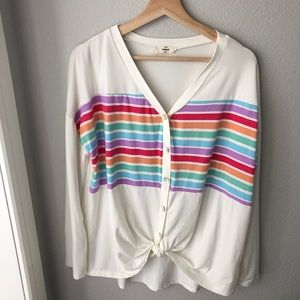 Anthro entro front tie button up top